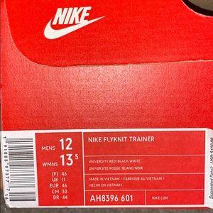 Nike flyknit trainers size 12